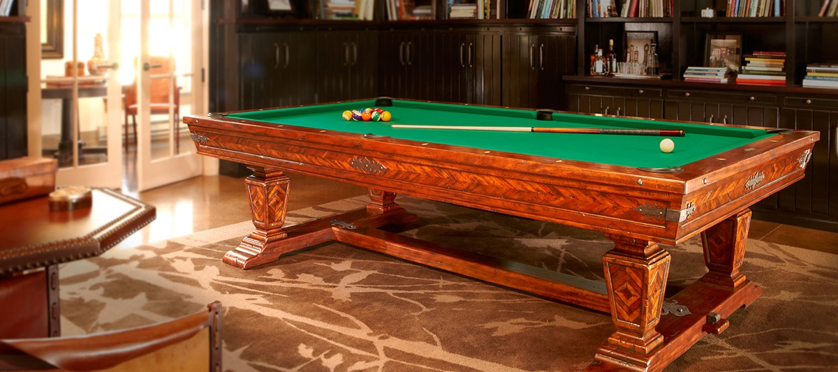 Pool Table, part of Brunswick's Newbury Collection. Courtesy Brunswick.