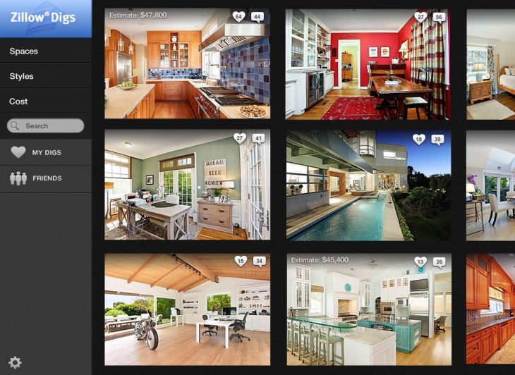 Zillow Digs curation website, Courtesy Zillow