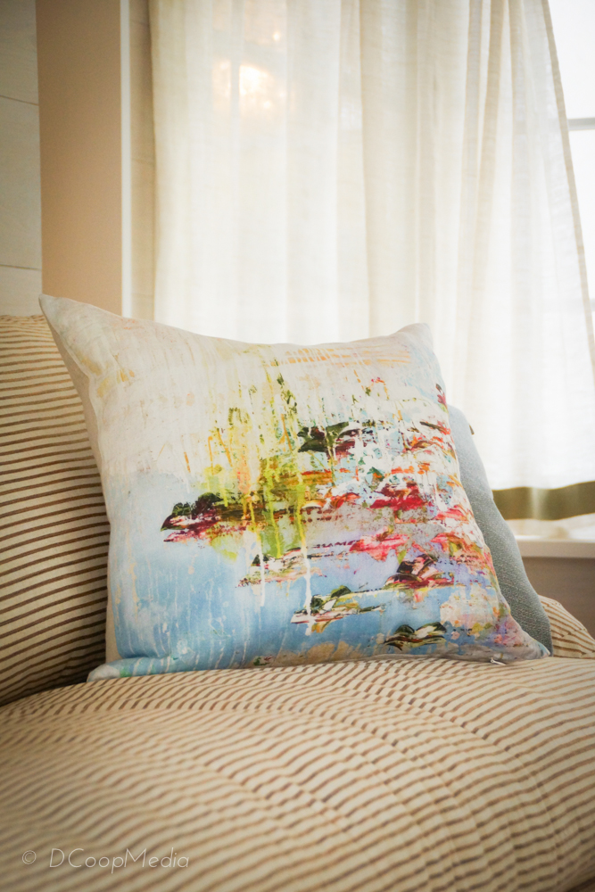 Decorative Pillows in the Artist's Retreat by Dana Triano Designs