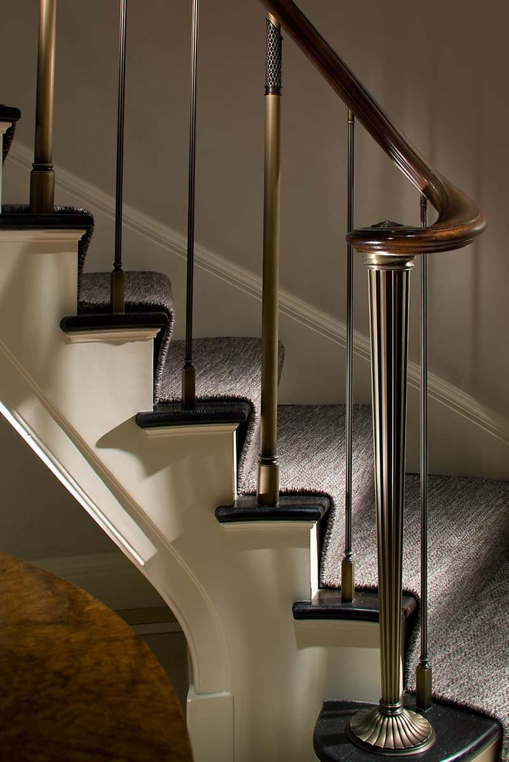 Bronze newel designed by John B. Murray Architect in aPark Avenue Apartment // © durston saylor, inc.