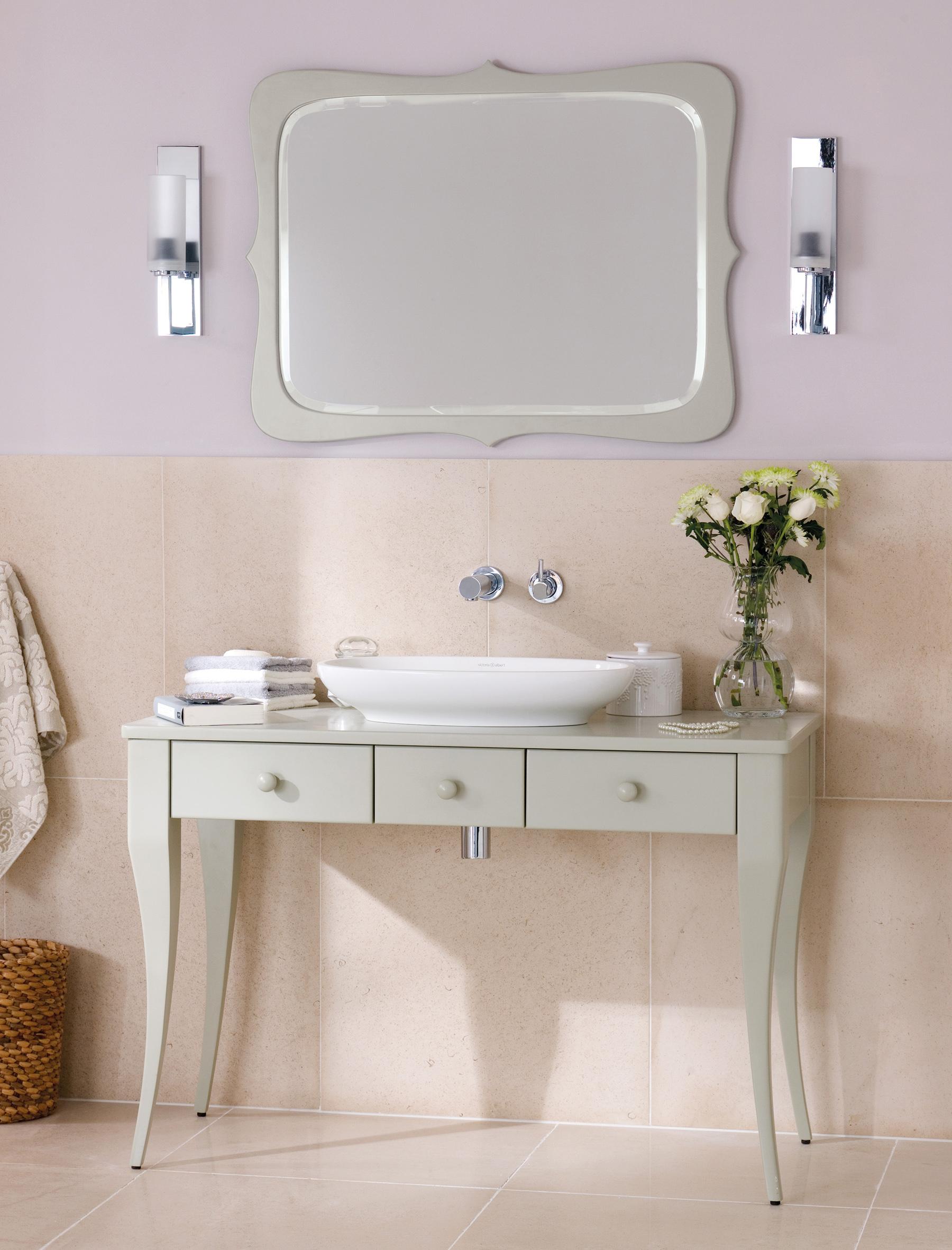 Bosa Vanity & Levanto Mirror from V+A Baths | Photo courtesy V+A Baths