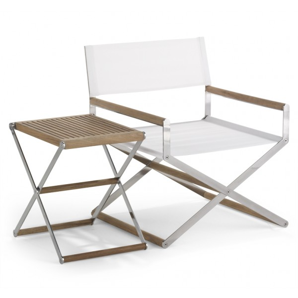 Folding Lounge Chair and Folding Side Table from Link Outdoor | Photo courtesy Link Outdoor
