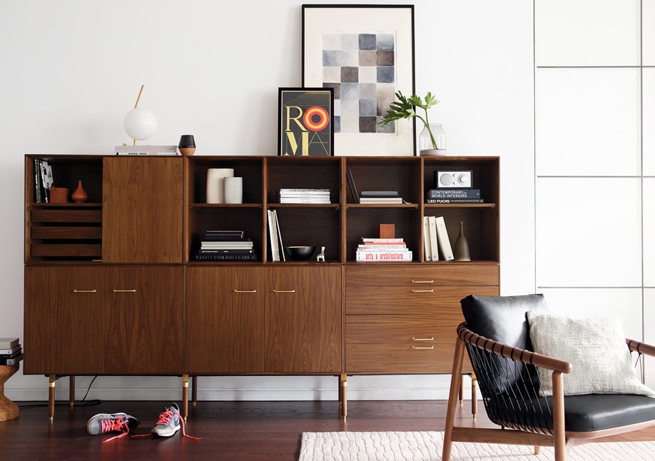 Ven Large Wall Unit by Jens Risom & Chris Hardy for Design Within Reach | Photo courtesy Design Within Reach