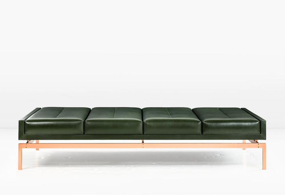 The Mad-Men-esque Olivera Chaise Lounge by Khouri Guzman Bunce Lininger | Photo courtesy KGBL