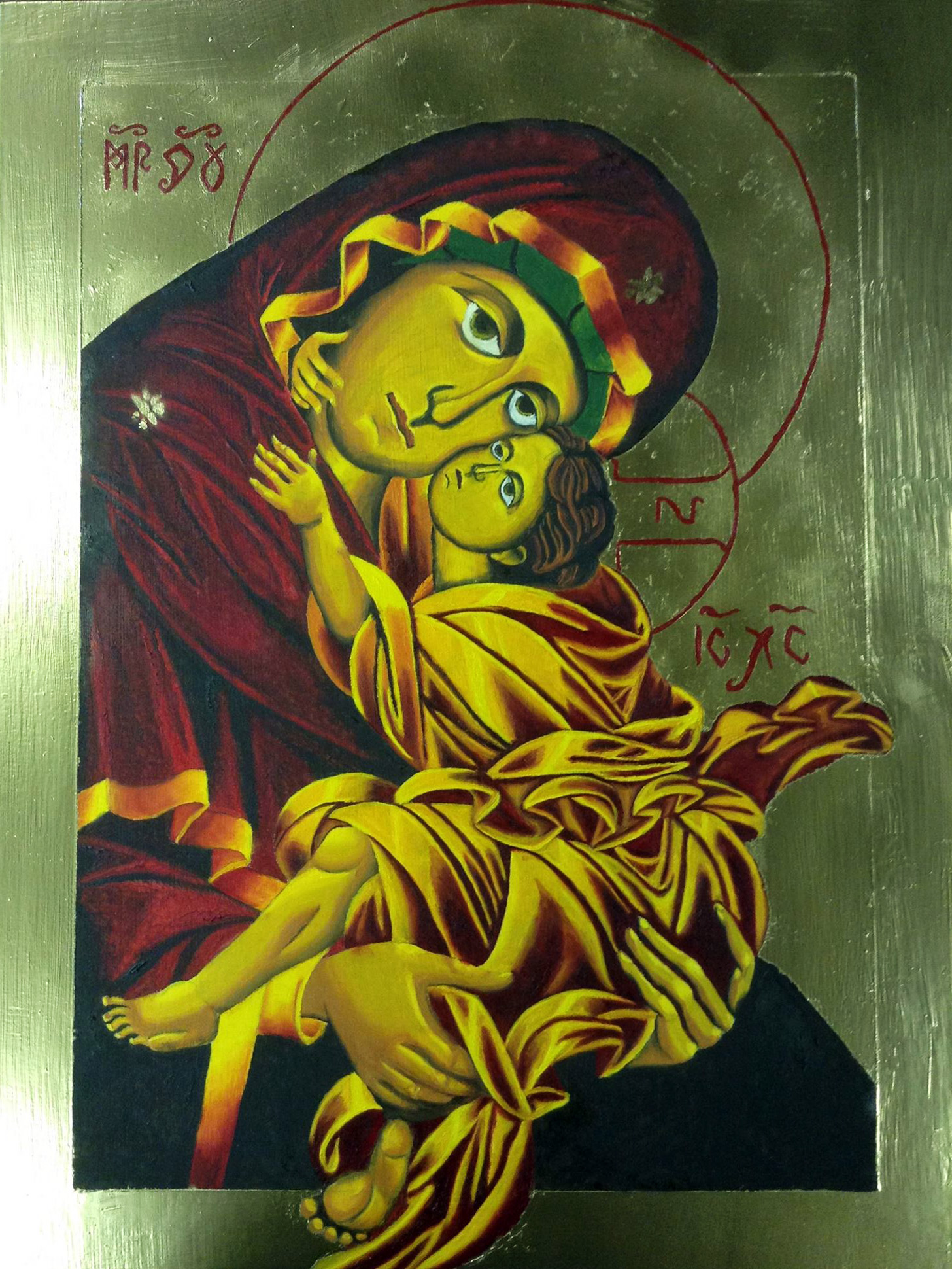 Sweet Kissing / 18x24 / Oil on Birch Panel