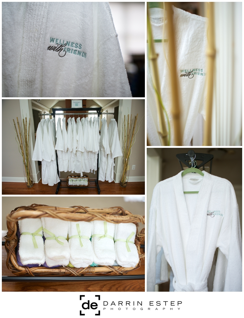Robes and socks used during the party