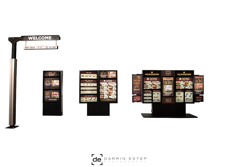 Burger Bar Drive-Thru system with digital menu system