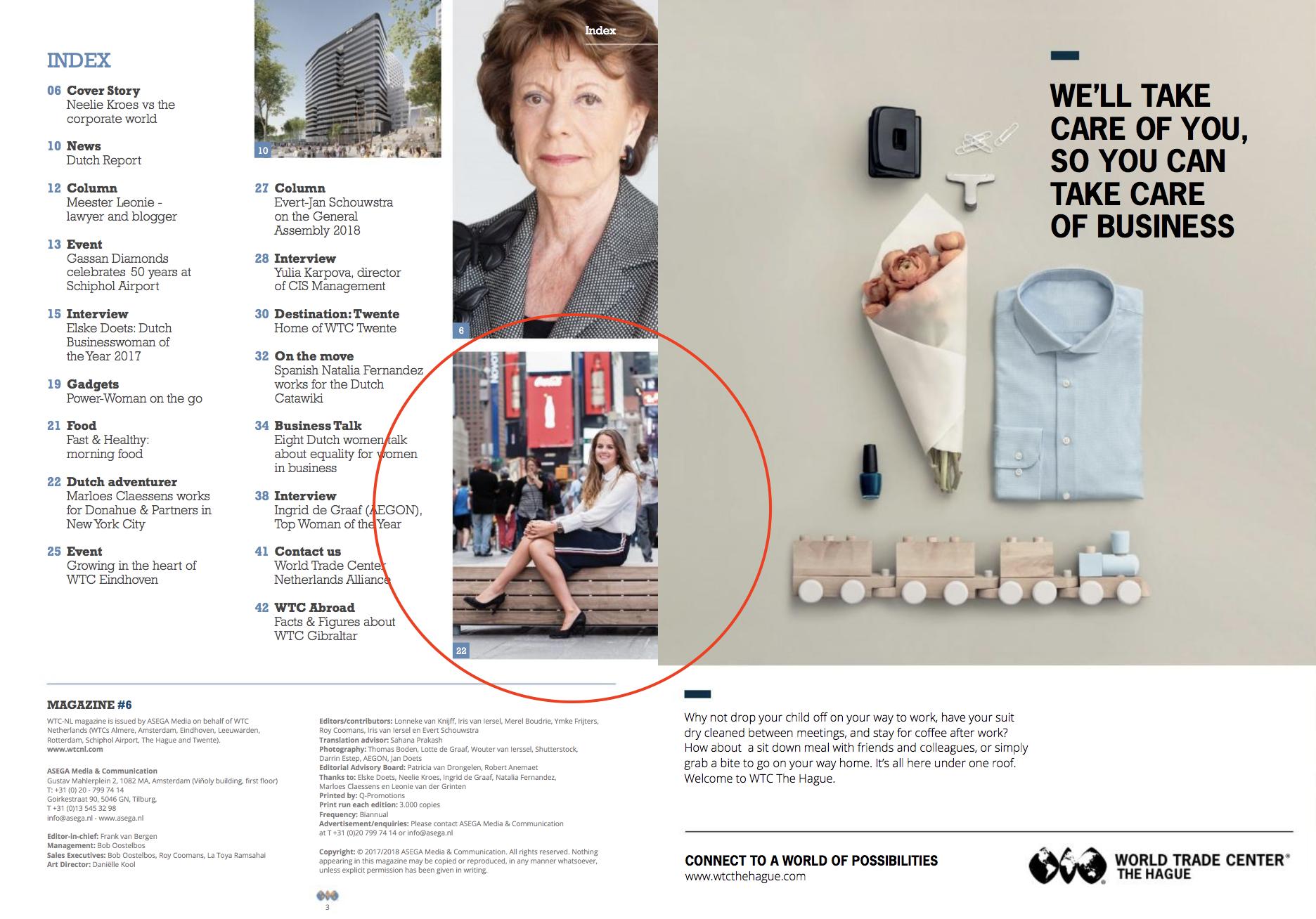World Trade Center Netherlands Alliance Magazine #6 - TOC