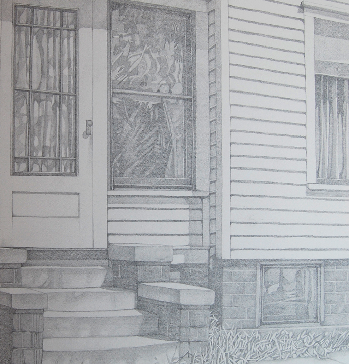 Wisconsin House. Graphite on paper. 1983.