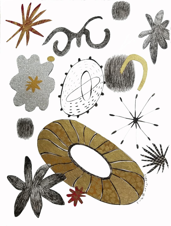 Garden Cosmos-Drawing
