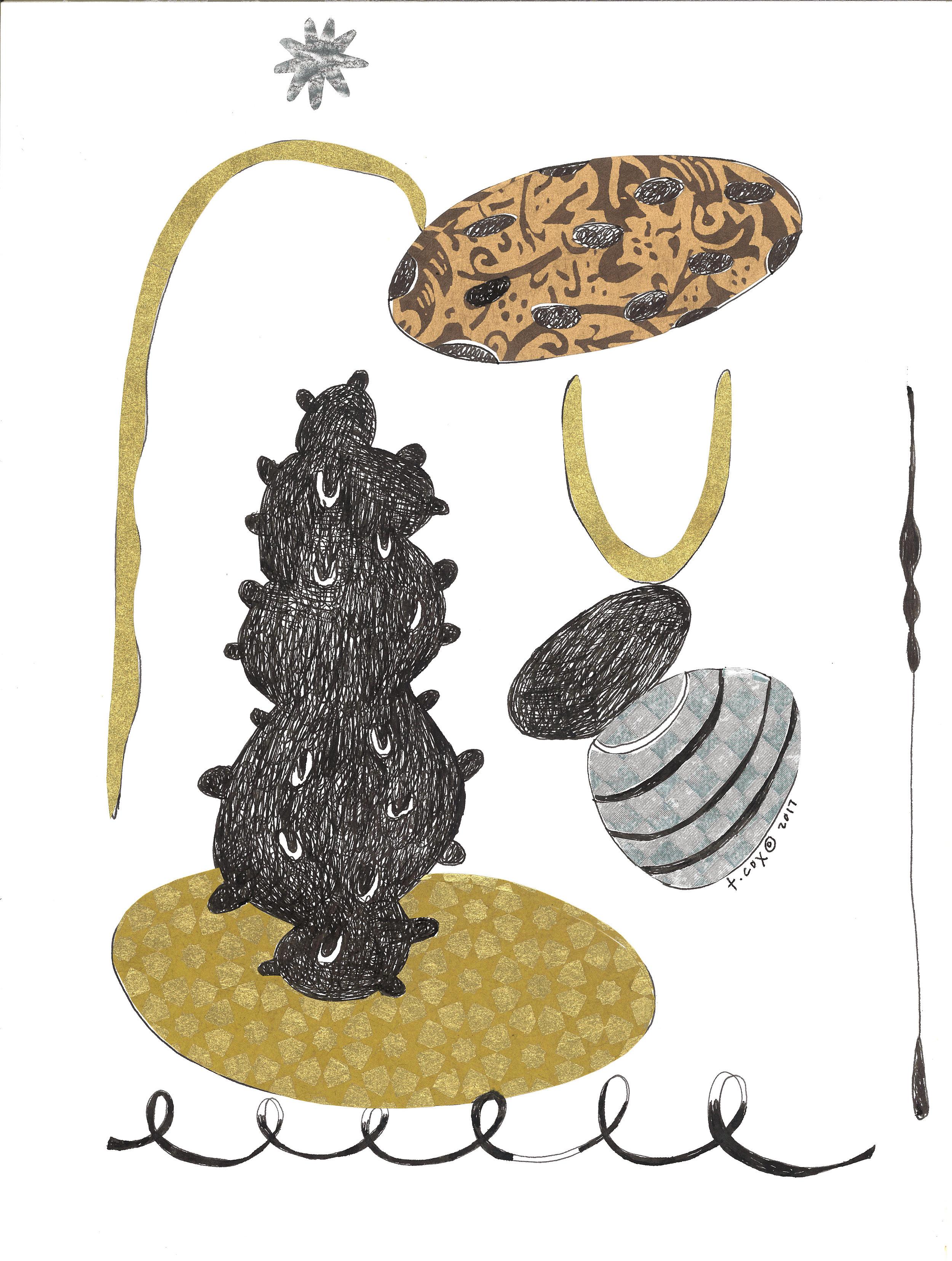 Golden Tumble-Drawing