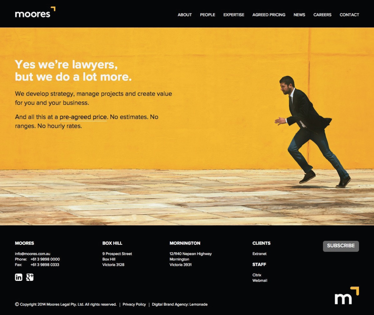 Moore's Legal Branding and Website