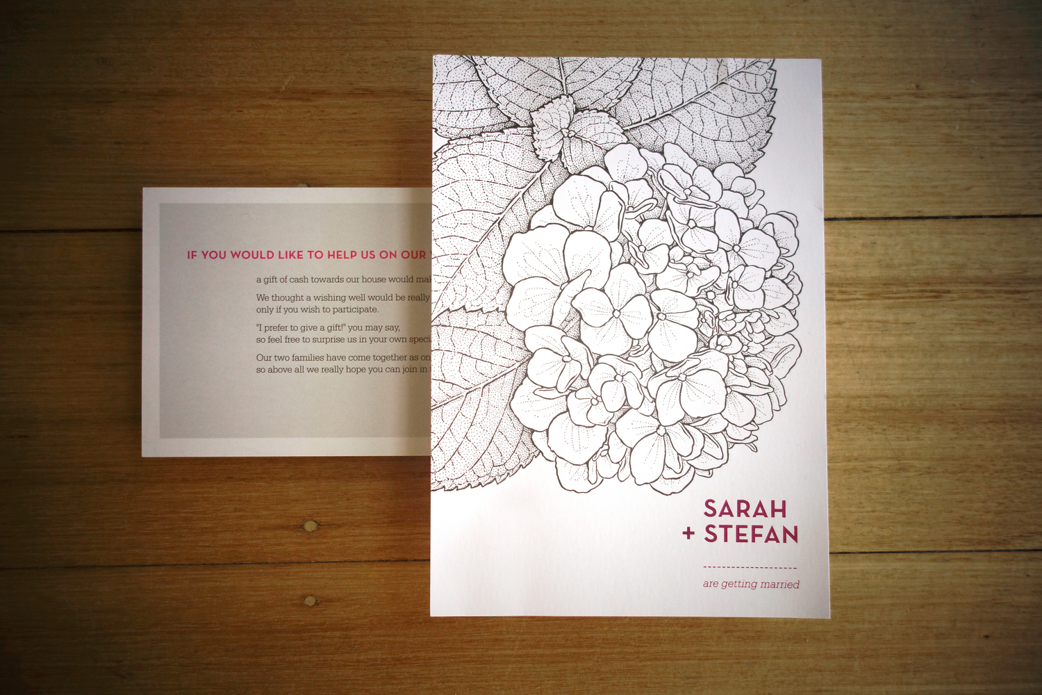 Sarah+Stefan Wedding Invitations