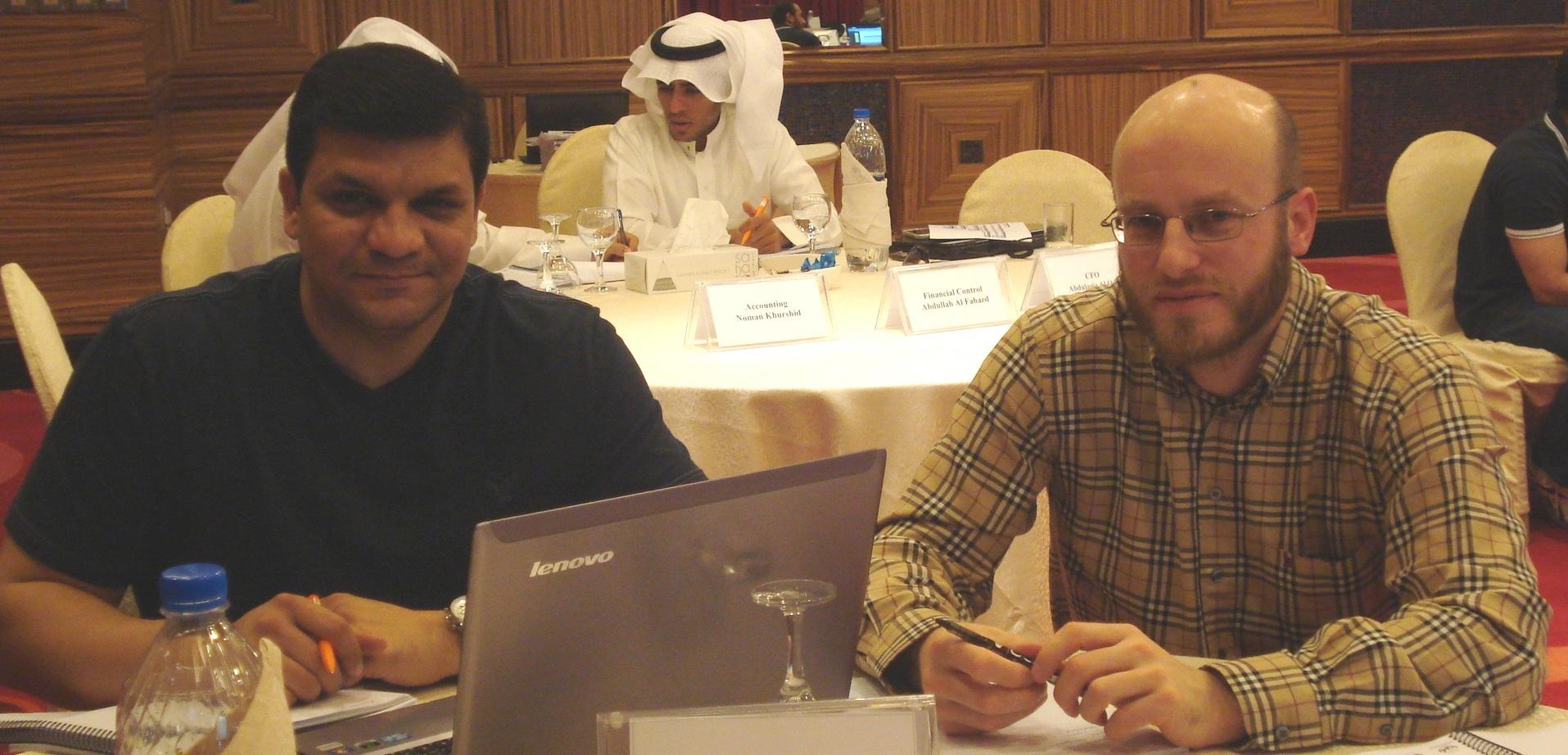 Waseem Nawaz (Pricing & Costing Senior Manager) and Mustafa Davies (Financial Control Director)