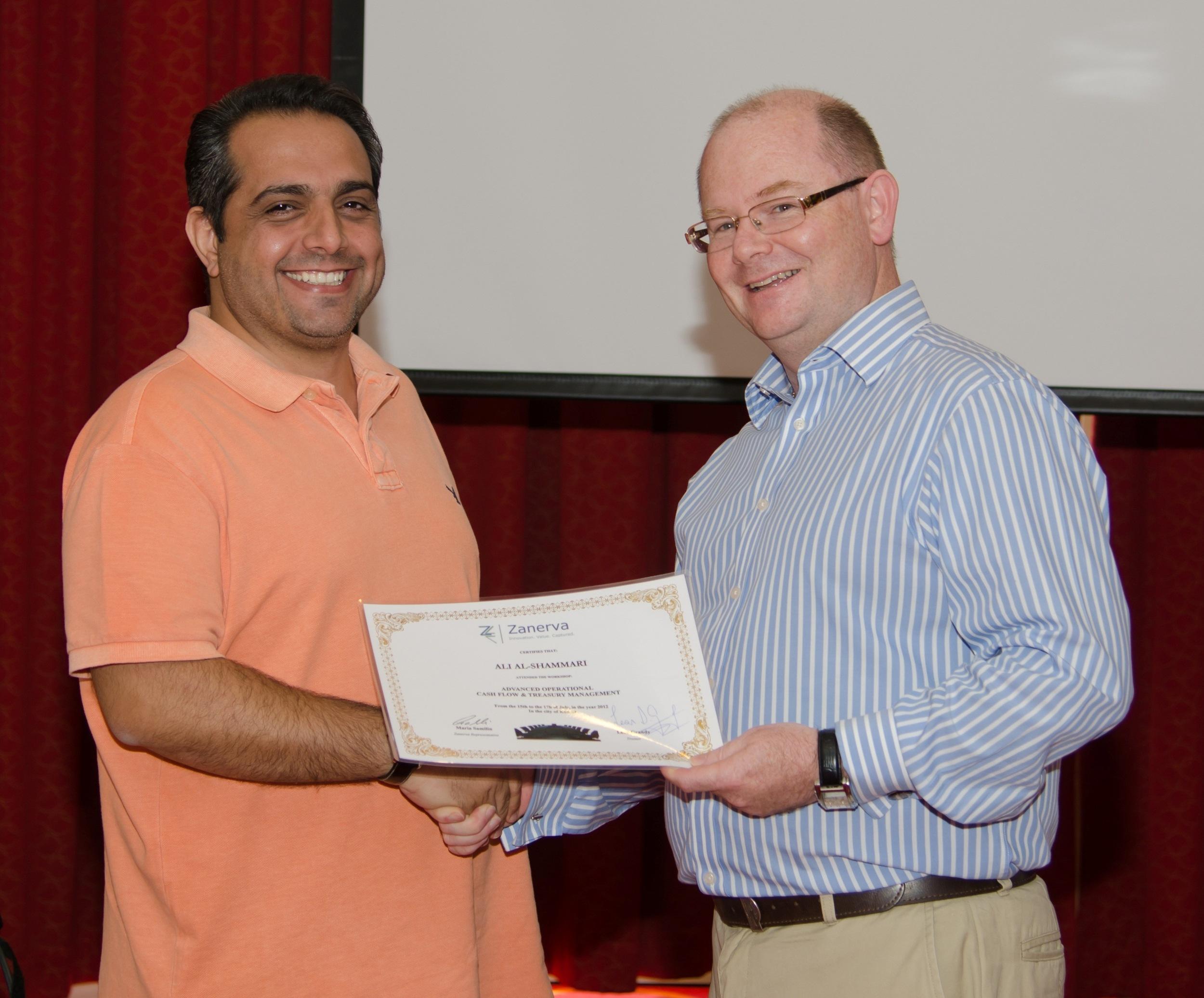 Ali Al Shammari (Accounts Payable Senior Manager) and Leon Grandy (Zanerva Partner Consultant)