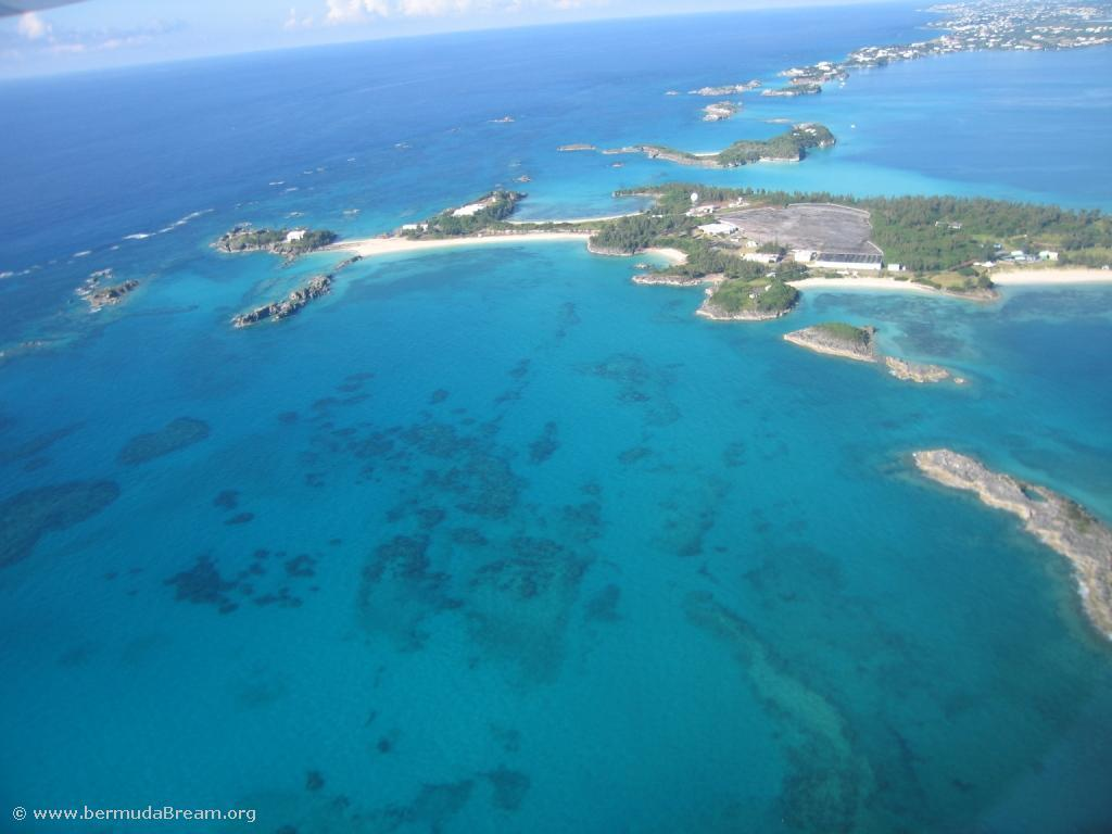Cooper's Island from the air