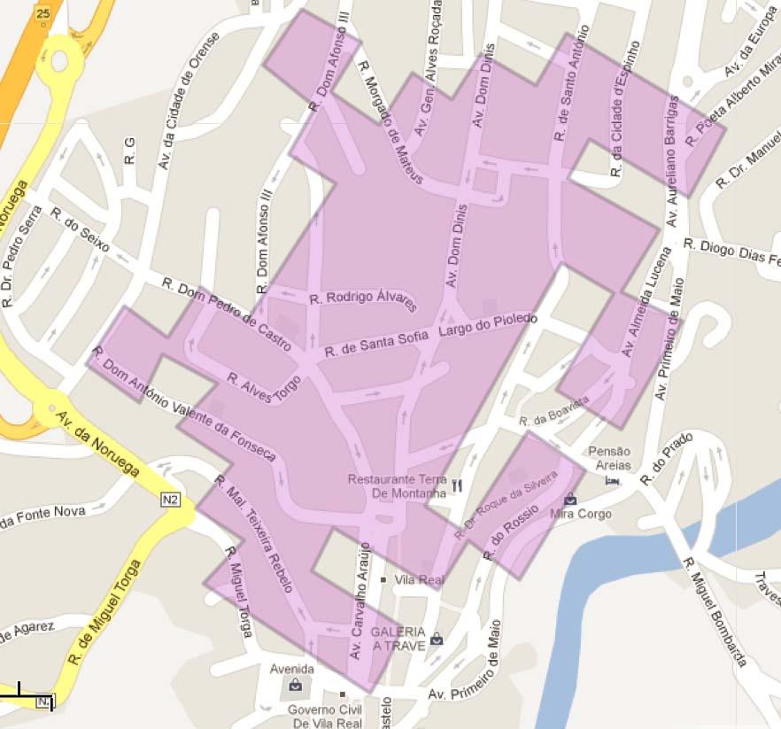 Demarcated Invasion Zone drawn on Google Maps