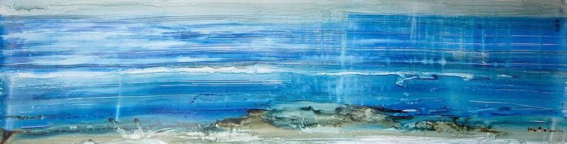 """For Z.L. Earth Science , 2014, Ink on yupo paper, 20""""x64"""""""