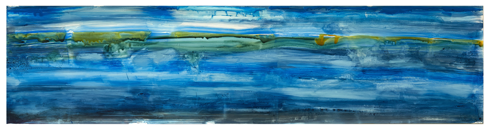 """For S.E. Hope Spot, 2014, Ink on yupo paper, 20""""x64"""""""