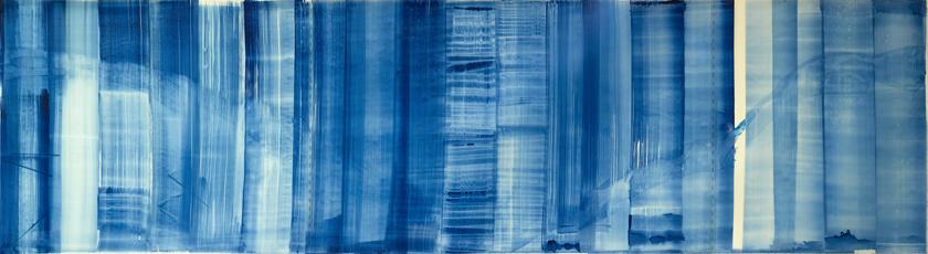 "Mi Ricordo Roma II, 2015   Ink on Transluscent Paper, 30"" x 108"""