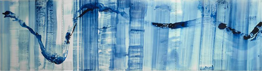 "Mi Ricordo Roma I, 2015   Ink on Transluscent Paper, 30"" x 108"""