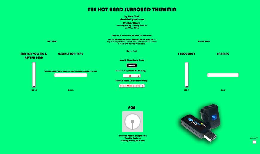 Hot Hand Surround Theremin