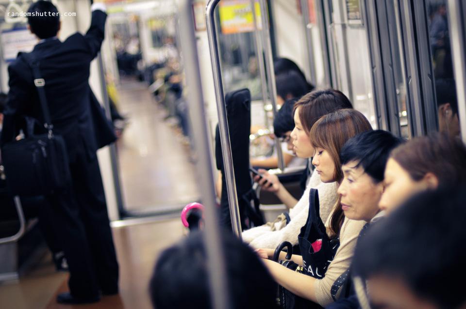 Sleeping in train :)