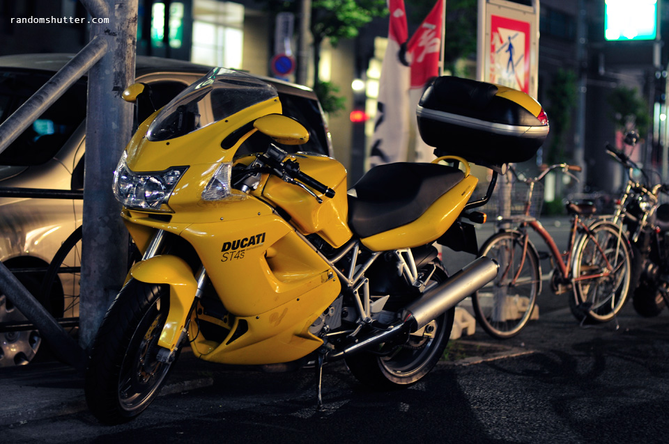 Ducati with cellophane tape quick fix ^_^