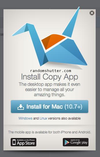 Install Copy App (MAC)