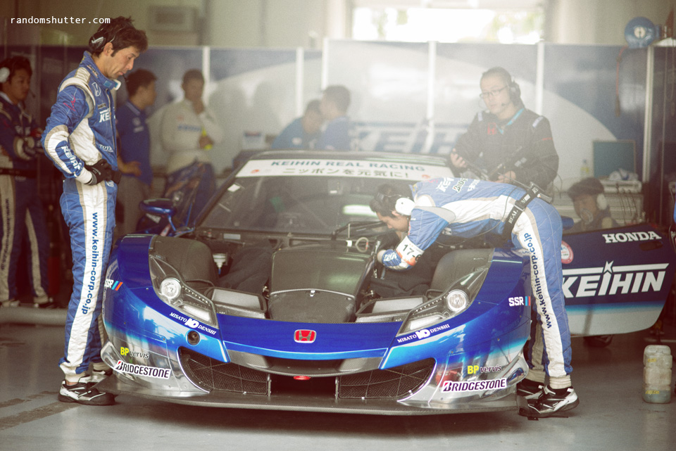 the guys were busy preparing the cars
