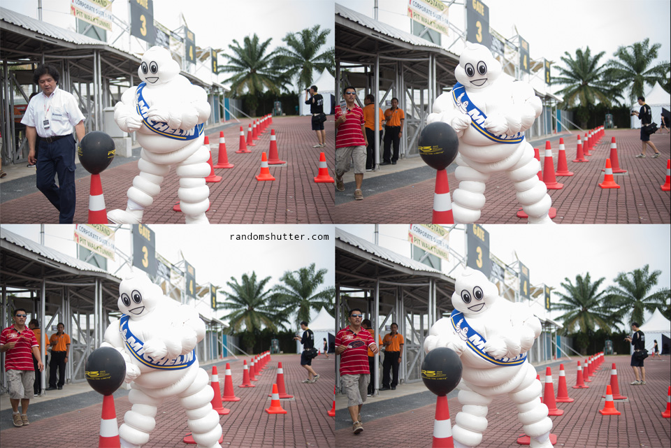 and then there was the michilin man punching the balloon xD maybe to lose some weight ... maybe haha