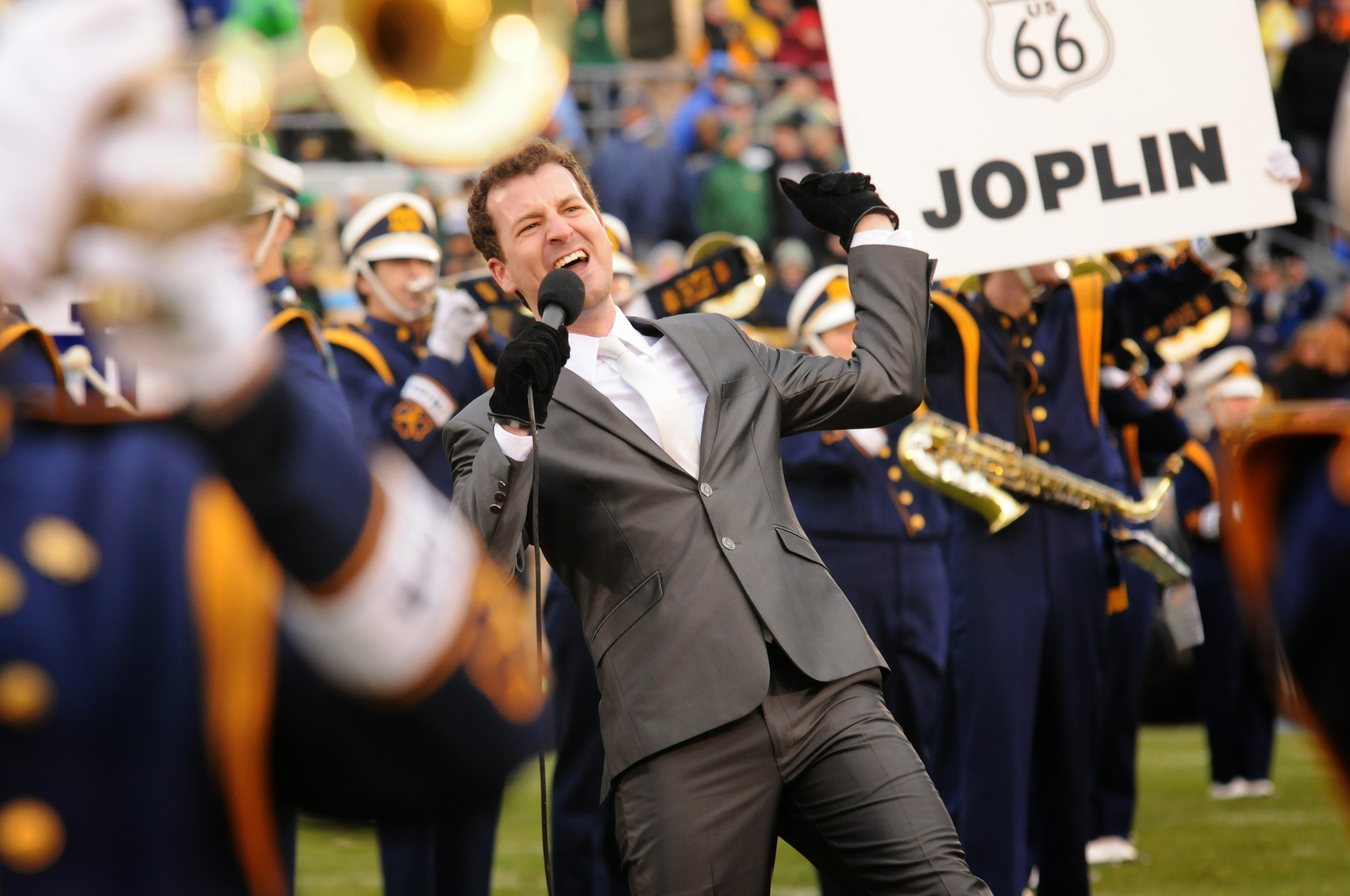 "Singing ""Route 66"" with Notre Dame Band 2013"