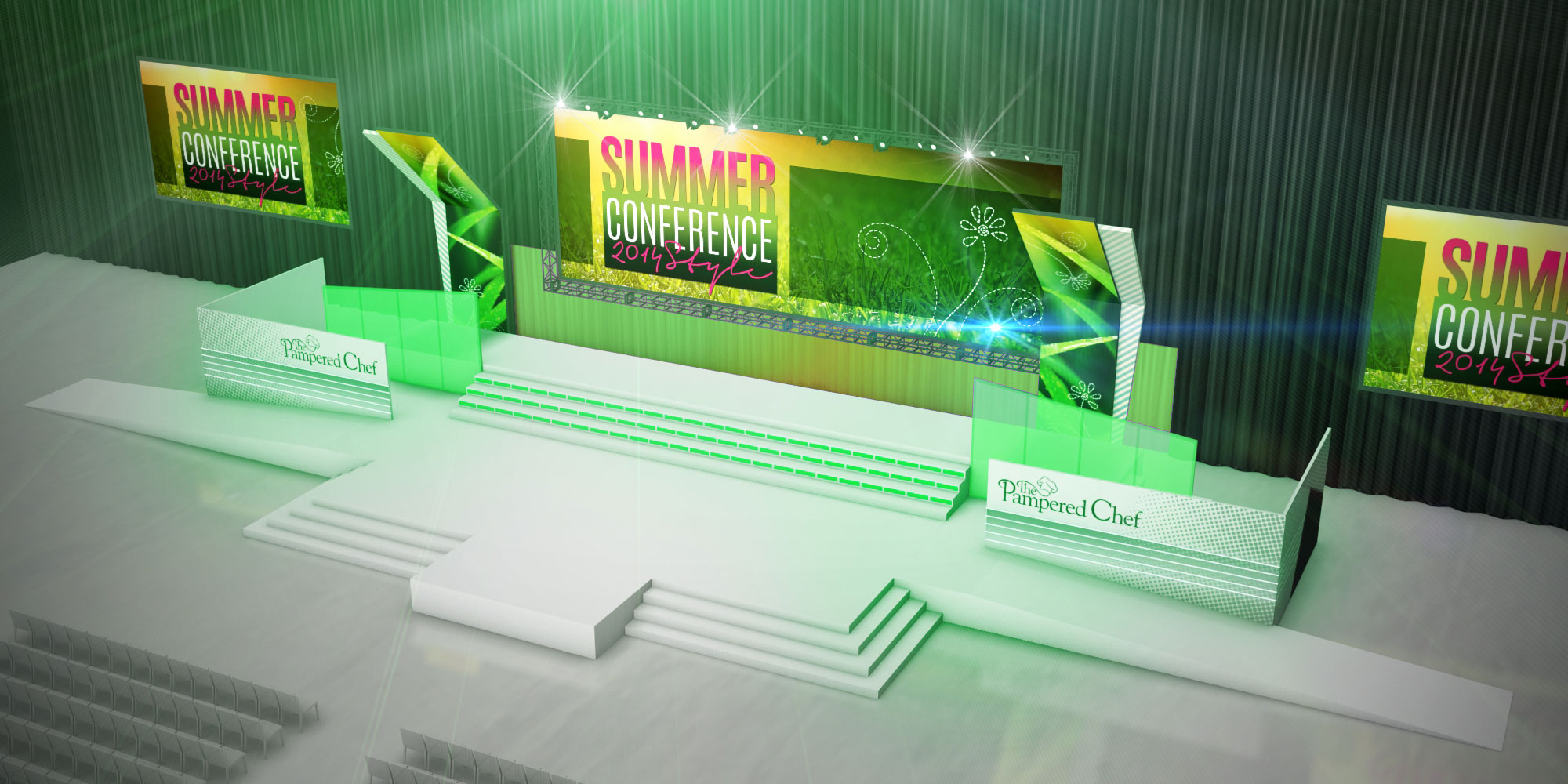 This is the session 1 design. It was used to kick off the event on day 1. Fresh and summery, eh?