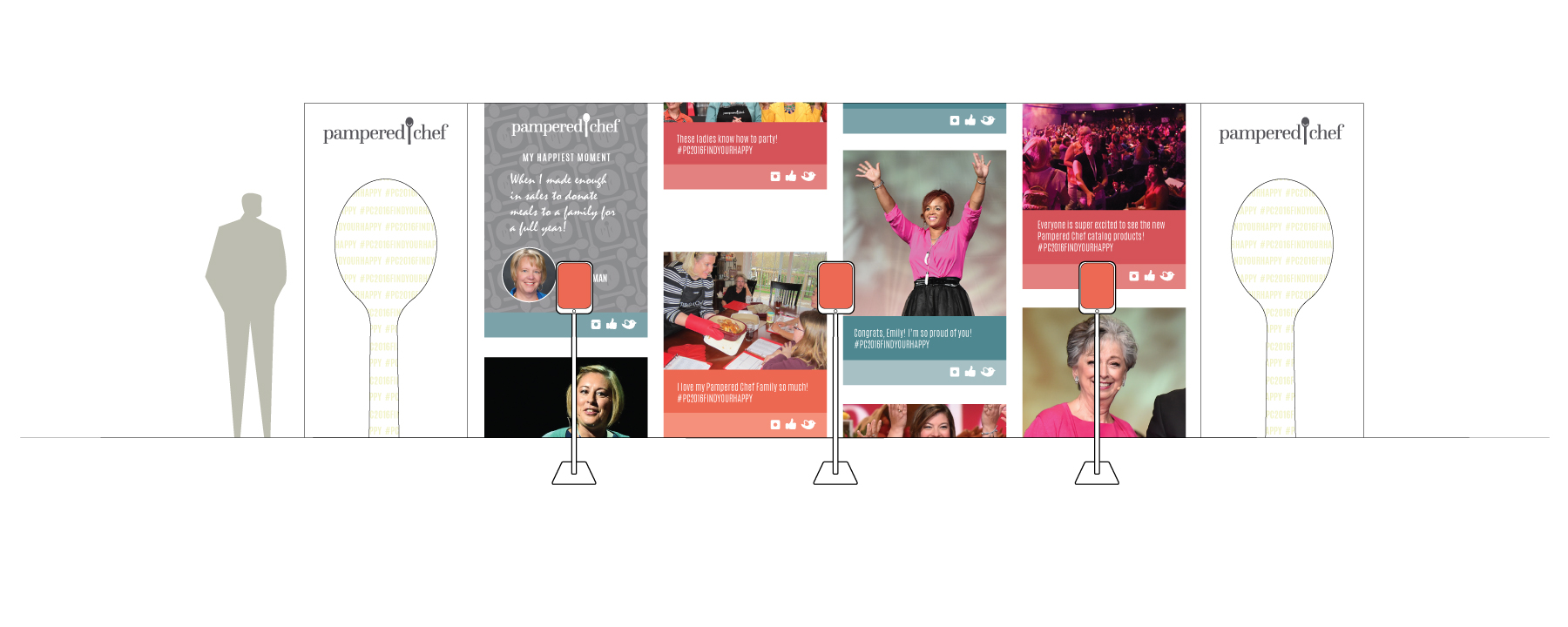 The Pampered Chef Happy Wall,showing social media feed (Tint-Up).