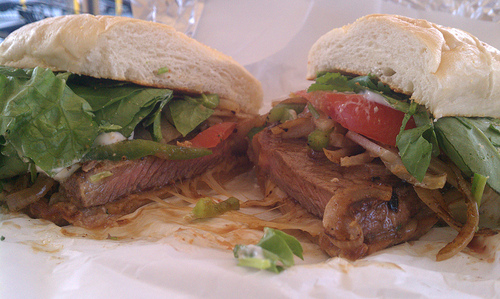 NY Steak Sandwich from Rock House Grill