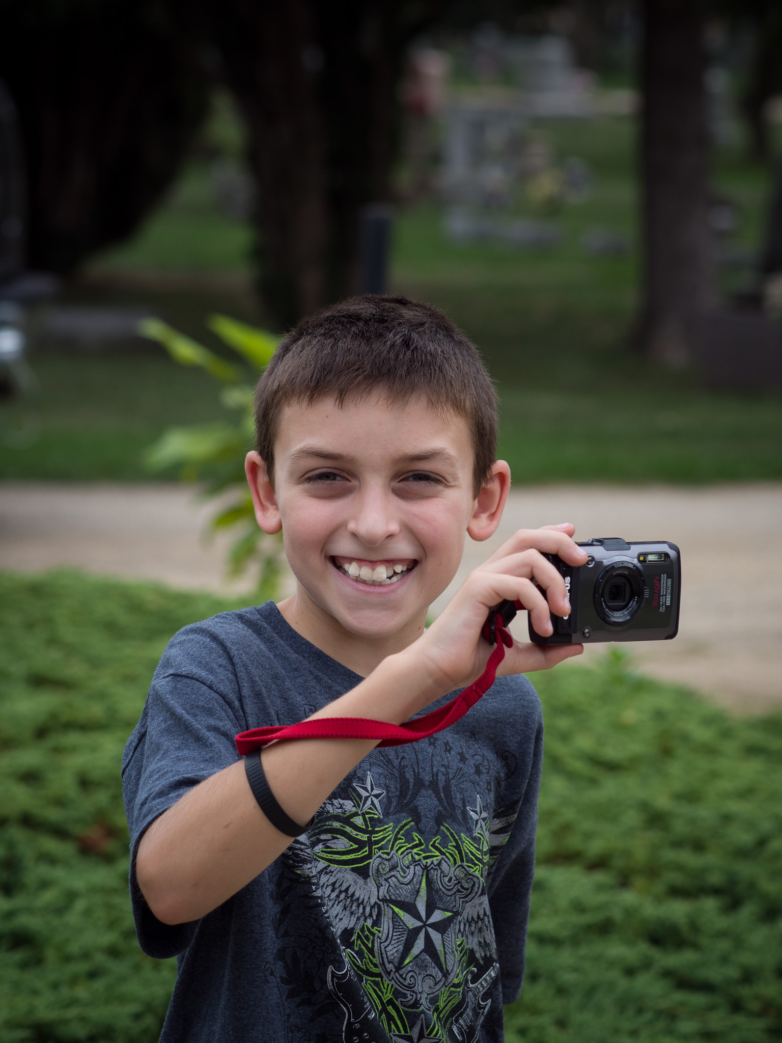 My son Mason on his first day out with a  Olympus Tough TG-1.