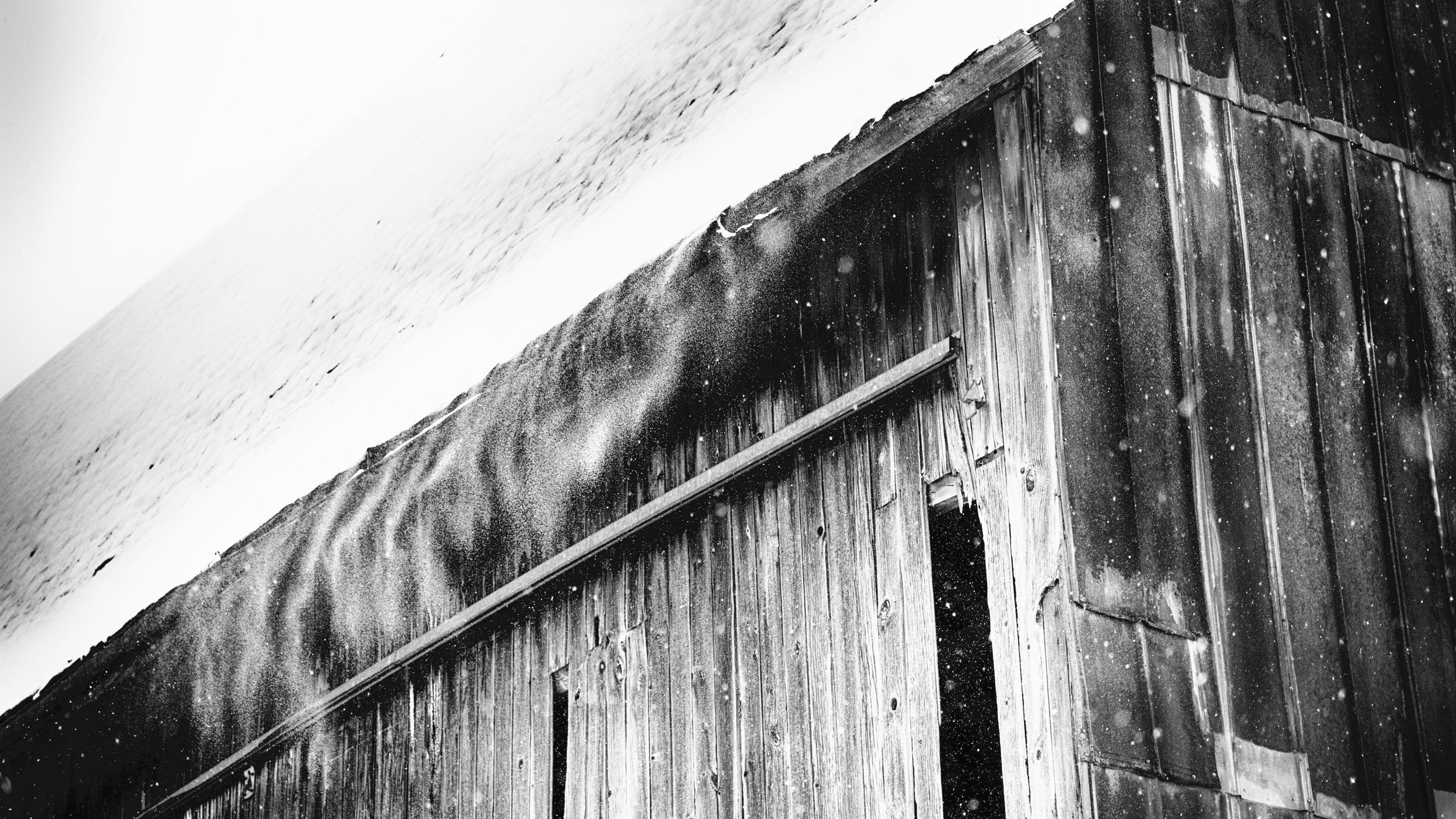 Wading through drifts that were waist deep I trudged on to shoot my favorite barn draped in cold and shedding snow.