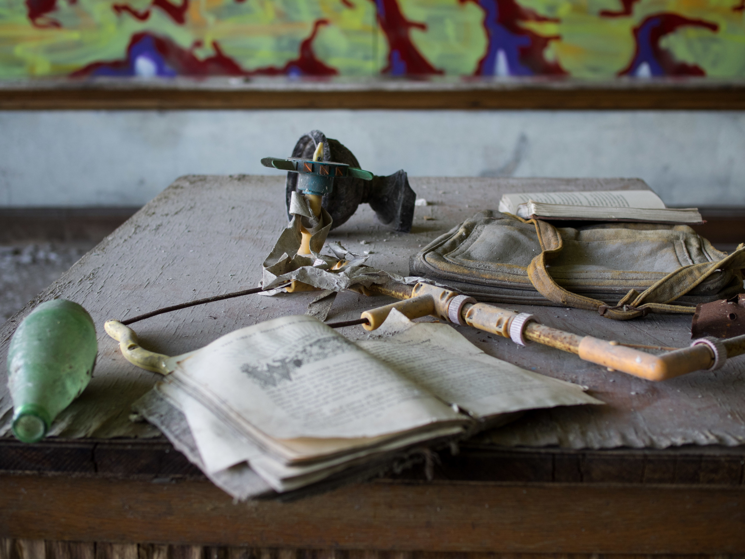 Every classroom in the school was a scene of dismay. It was confusing to try and understand how some things looked like they had never been moved, and others were obviously places of recent activity.