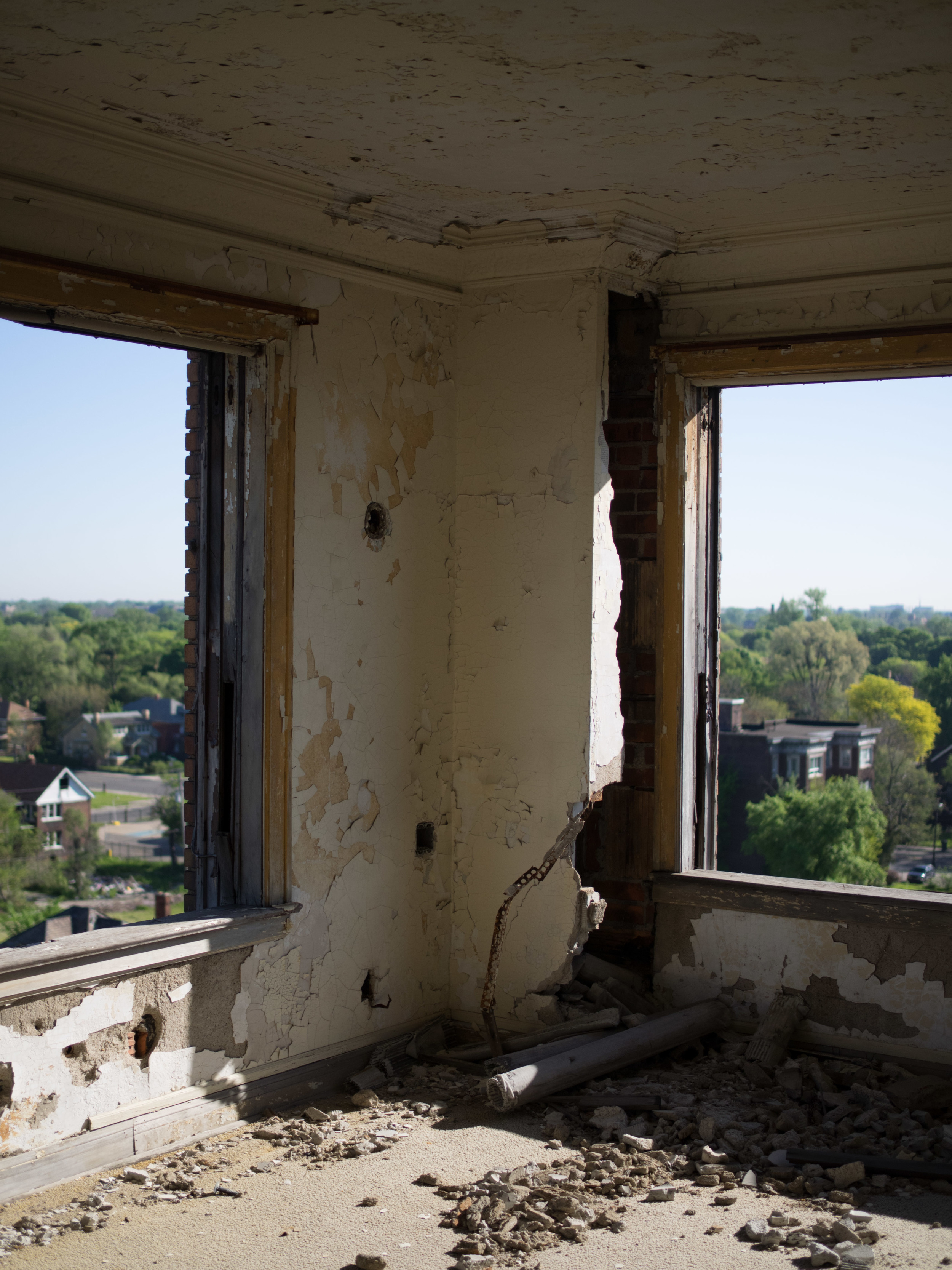 A room with a view? Done.  Not a single window remains.