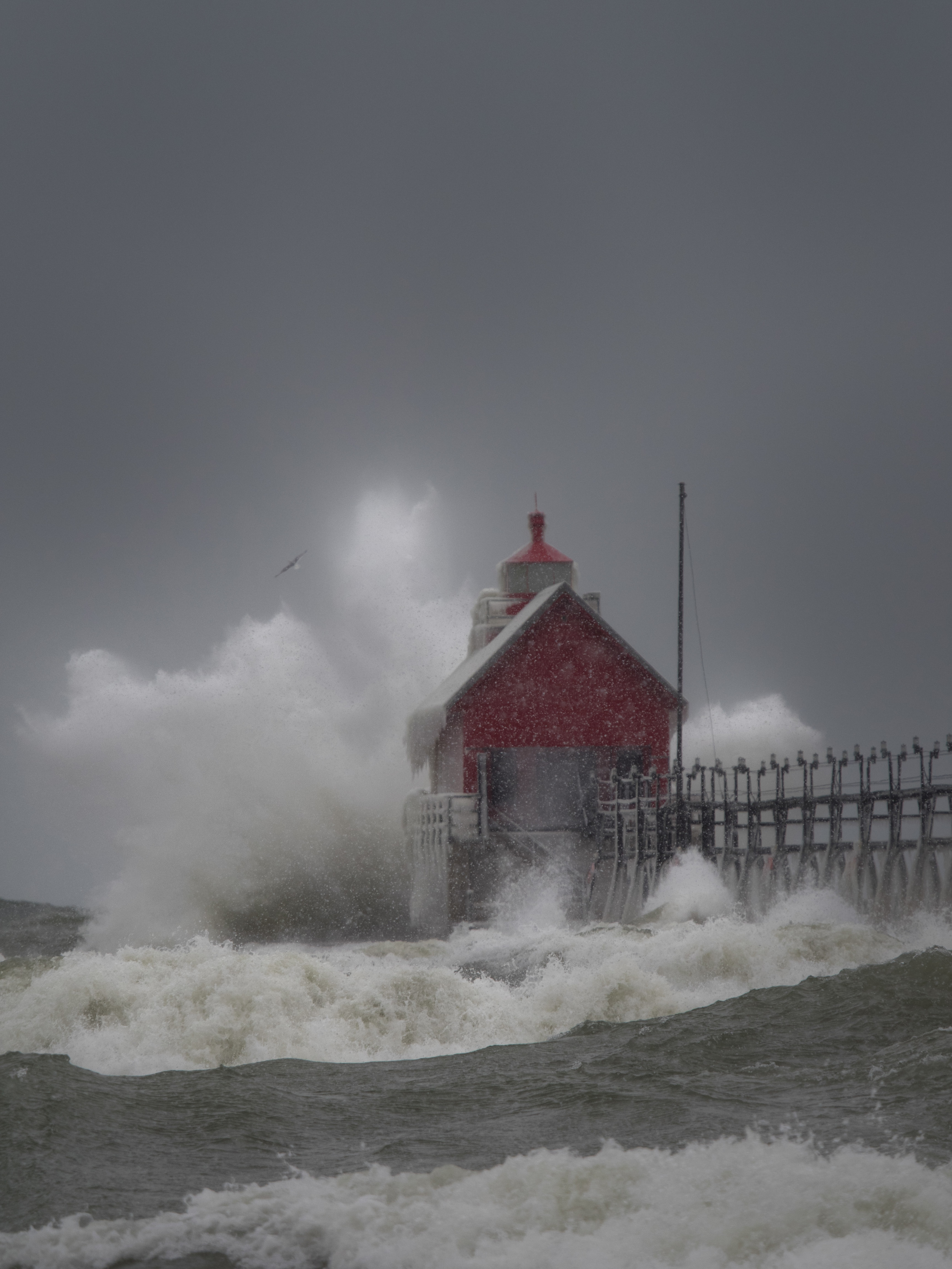 January 1st I headed to the Lake Michigan shoreline for some of the most incredible photos of the year. I went there with friend and fellow Olympus user  David Bostedor , and met up with another Olympus shooter  Bob Panick  (who drove HOURS to get there).