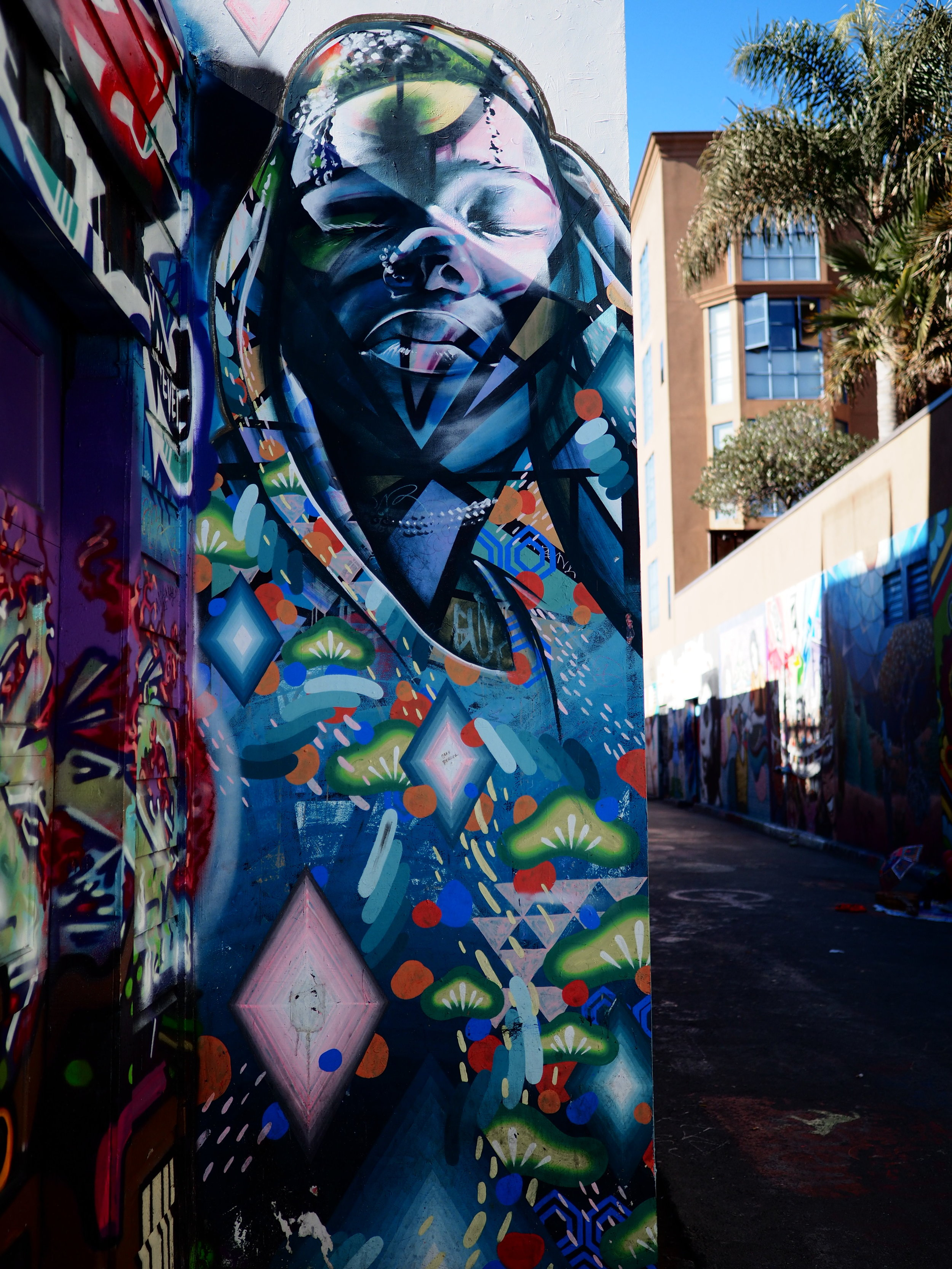 The Queen of Clarion Alley: Shot w/ the Olympus PEN-F + mZuiko 17mm f/1.2 PRO using a custom color profile. SOOC jpg.