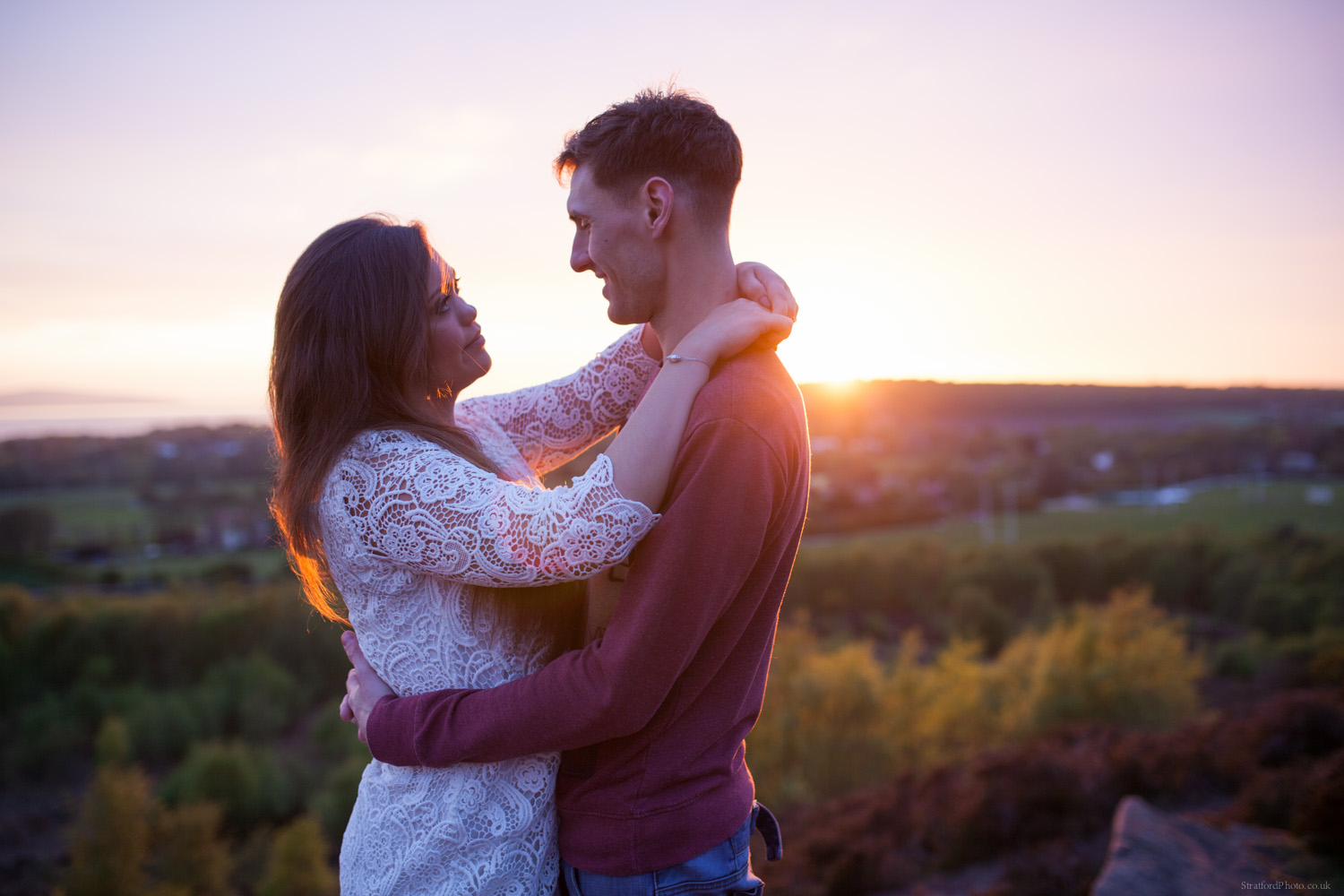 Hayley & David Beautiful Romantic Sunset Prewedding Engagement Shoot at Thurstaston on the Wirral 63.jpg