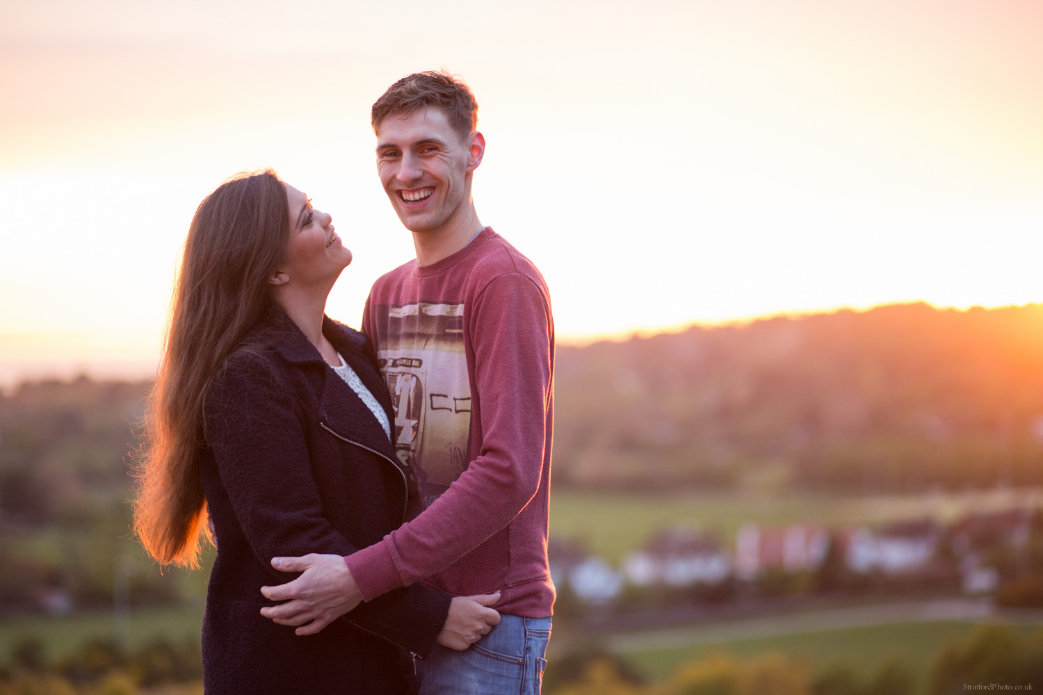 Hayley & David Beautiful Romantic Sunset Prewedding Engagement Shoot at Thurstaston on the Wirral 75.jpg