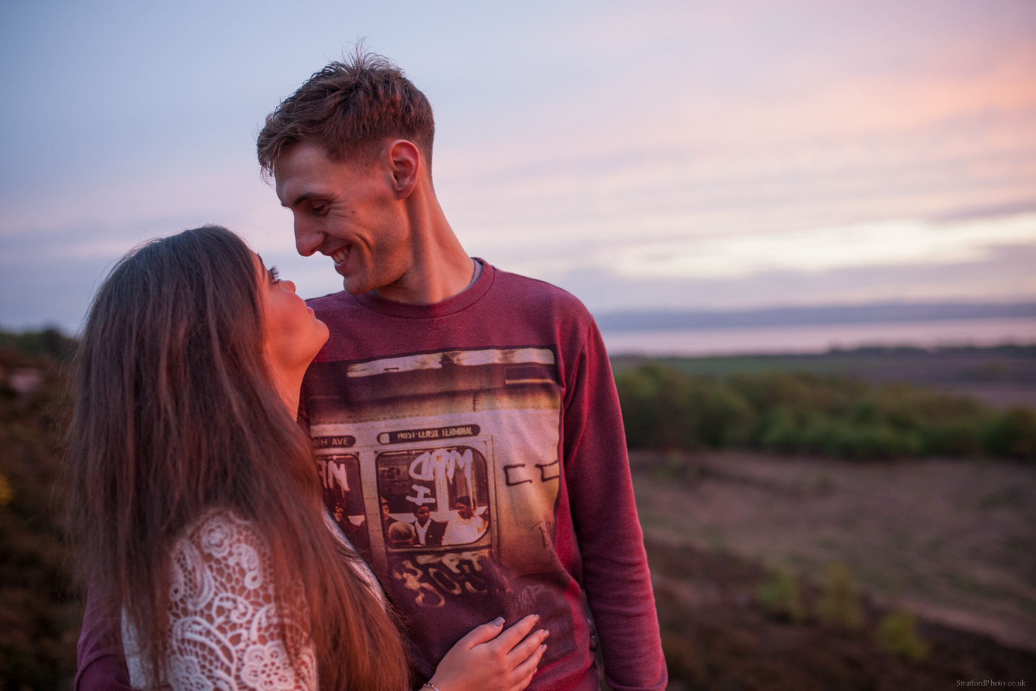 Hayley & David Beautiful Romantic Sunset Prewedding Engagement Shoot at Thurstaston on the Wirral 77.jpg
