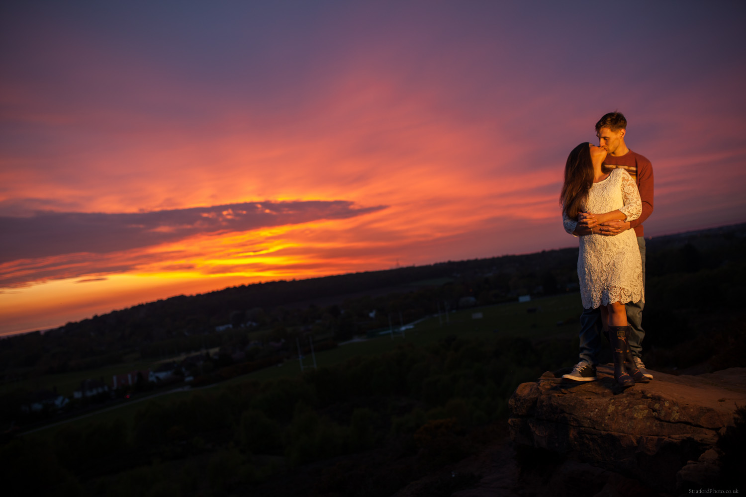 Hayley & David Beautiful Romantic Sunset Prewedding Engagement Shoot at Thurstaston on the Wirral 78.jpg