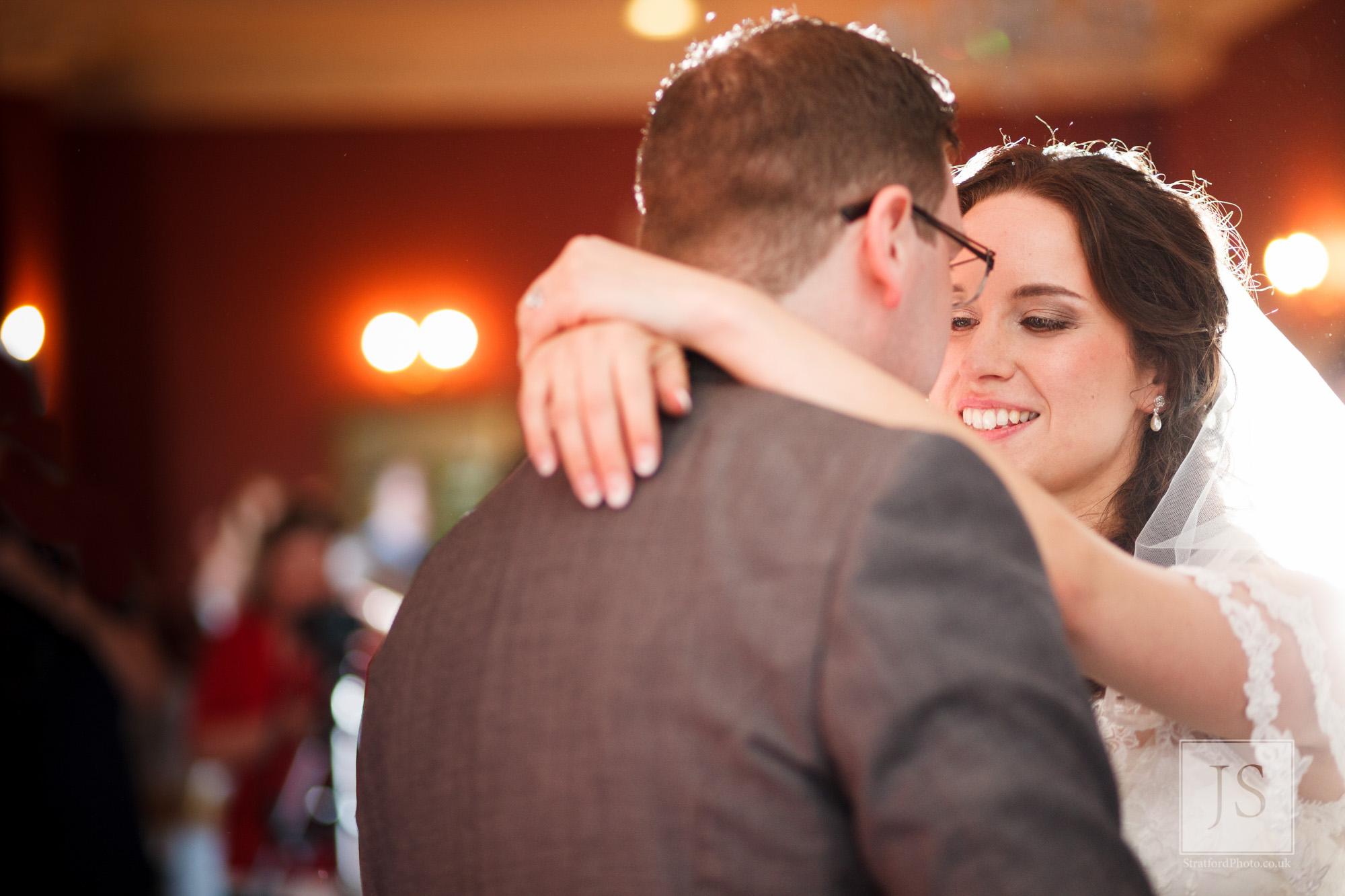 A couple enjoy their first dance at Haigh Hall.jpg