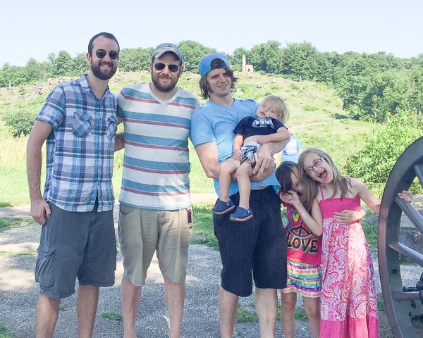 Adam, David, Jon with Rowan, Jade & Bella