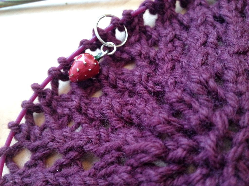 The start of something new on the needles.