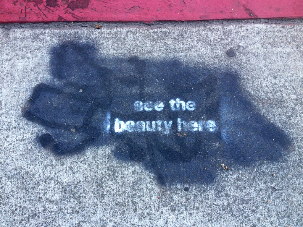 These messages are all over the Venice sidewalks.