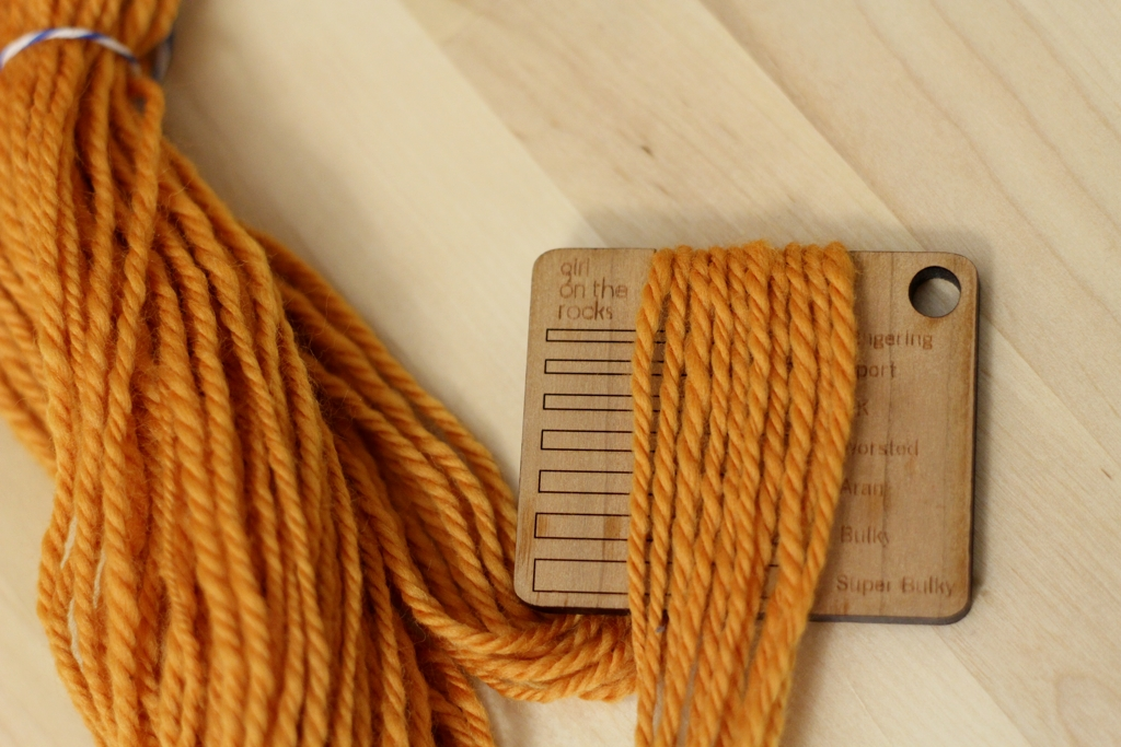 Got a fresh skein of handspun yarn off the bobbins or spindle? Heres a different way to measure wraps per inch. | withwool.com